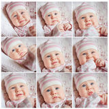 Face collage babies Stock Photo