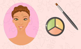 Face color concealer Royalty Free Stock Photos