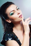 Face with colorful make-up Royalty Free Stock Images
