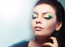 Face with colorful make-up Stock Photos