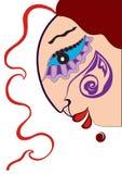 Face com tatuagem ilustração stock