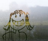 Face in condensation Stock Photography