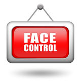Face control Stock Image