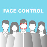 Face Control Icon Royalty Free Stock Photography
