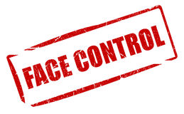 Face control stamp Royalty Free Stock Photo