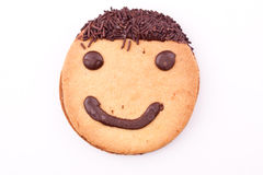 Face on cookies Stock Photography