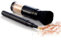 Face cosmetics. Cosmetics series: Concealer on white background royalty free stock photo