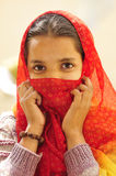 Face covered girl Royalty Free Stock Photos