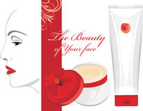 Face cream. The beauty of Your face Royalty Free Stock Photos