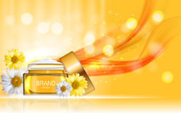 Face Cream Bottle Tube Design Cosmetics  Product  Template for A Royalty Free Stock Photo