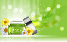 Face Cream Bottle Tube Design Cosmetics  Product  Template for A Royalty Free Stock Photos