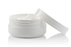 Face cream container Royalty Free Stock Photography