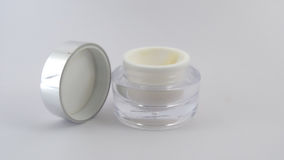 Face cream. Put on a white background Royalty Free Stock Image