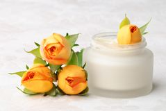 Face Cream With Roses stock images