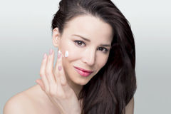 Face cream woman Stock Photography
