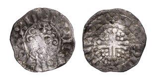Face croisée courte et inverse de penny de Henry III photos stock