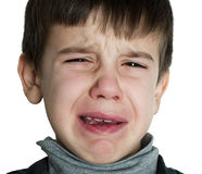 Face of crying child Royalty Free Stock Photography
