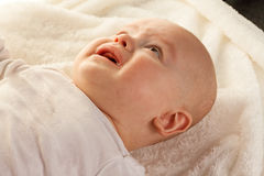 Face of a crying, sad babies Royalty Free Stock Photos