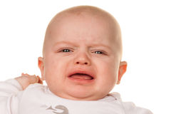 Face of a crying, sad babies Royalty Free Stock Photo