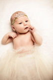 Face Of Cute Newborn Baby Girl Royalty Free Stock Images