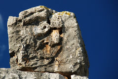 Face of the Cyclops. Tirinthos, Greece Royalty Free Stock Photos