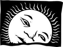 Face da aumentação Sun ilustração stock