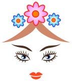 Face da beleza ilustração royalty free