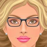 Face da beleza Foto de Stock