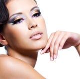 Face da beleza de uma mulher 'sexy' Fotos de Stock Royalty Free