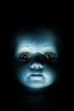 Face da boneca da criança do assombro imagem de stock