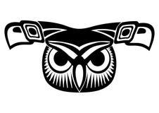 Face da coruja ilustração royalty free