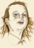 Face da criança ilustração royalty free