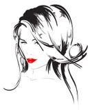 Face da menina da beleza Imagem de Stock