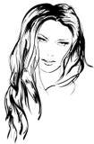 Face da menina da beleza Fotos de Stock Royalty Free