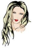 Face da menina da beleza ilustração do vetor