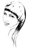 Face da menina da beleza Imagens de Stock