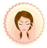 Face da menina da beleza do cuidado Imagens de Stock Royalty Free