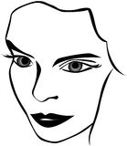 Face da mulher Fotografia de Stock Royalty Free