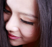 Face da mulher asiática Fotos de Stock