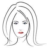Face da mulher bonita ilustração stock
