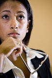 Face da mulher consideravelmente nova do African-American imagens de stock royalty free