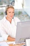 Face da mulher de negócio confiável charming nova   Fotos de Stock Royalty Free