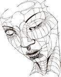 Face da mulher de Wireframe Fotografia de Stock
