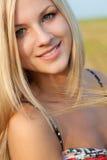 Face da mulher do close up imagem de stock