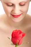 Face da mulher do close up fotografia de stock royalty free