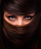 Face da mulher e do cabelo fotografia de stock royalty free