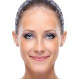Face da mulher nova foto de stock