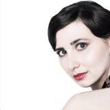 Face da mulher - retrato da forma Foto de Stock Royalty Free