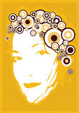 Face da rapariga. Vetor Imagens de Stock