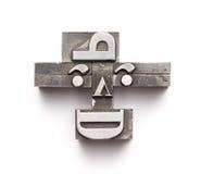 Face da tipografia Imagens de Stock